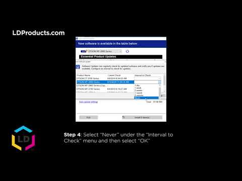 How To Turn Off Epson Firmware Updates