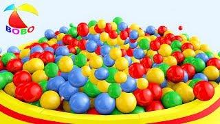 Balls And Baby Cars Trucks For Children - Colours Balls for Kids