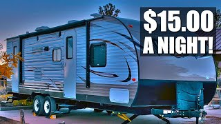 Travel Trailer camping iฑ Nevada