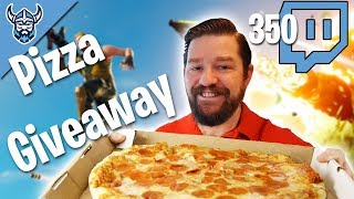 PIZZA GIVEAWAY... yes a REAL PIZZA @350 Twitch Followers - Fortnite Battle Royale