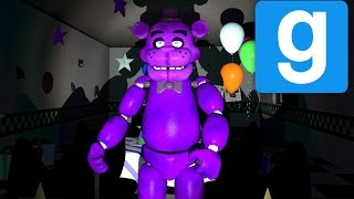 PURPLE FREDDY! | Freddy Fazbear's Pizza | Gmod Horror Map (Part 2)