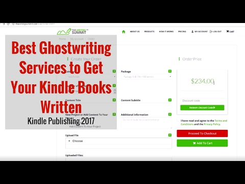 Kindle Publishing 2017 - Best Services to Get Your Kindle Books Written