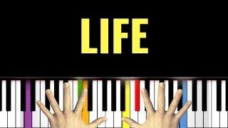 🎹 LIFE - Ludovico Einaudi (PIANO SYNTHESIA TUTORIAL)