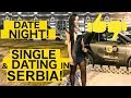 American going on a date in Serbia