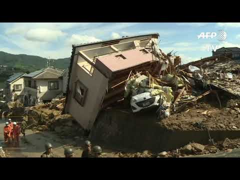 Desperate rescue efforts as Japan rains toll hits 75