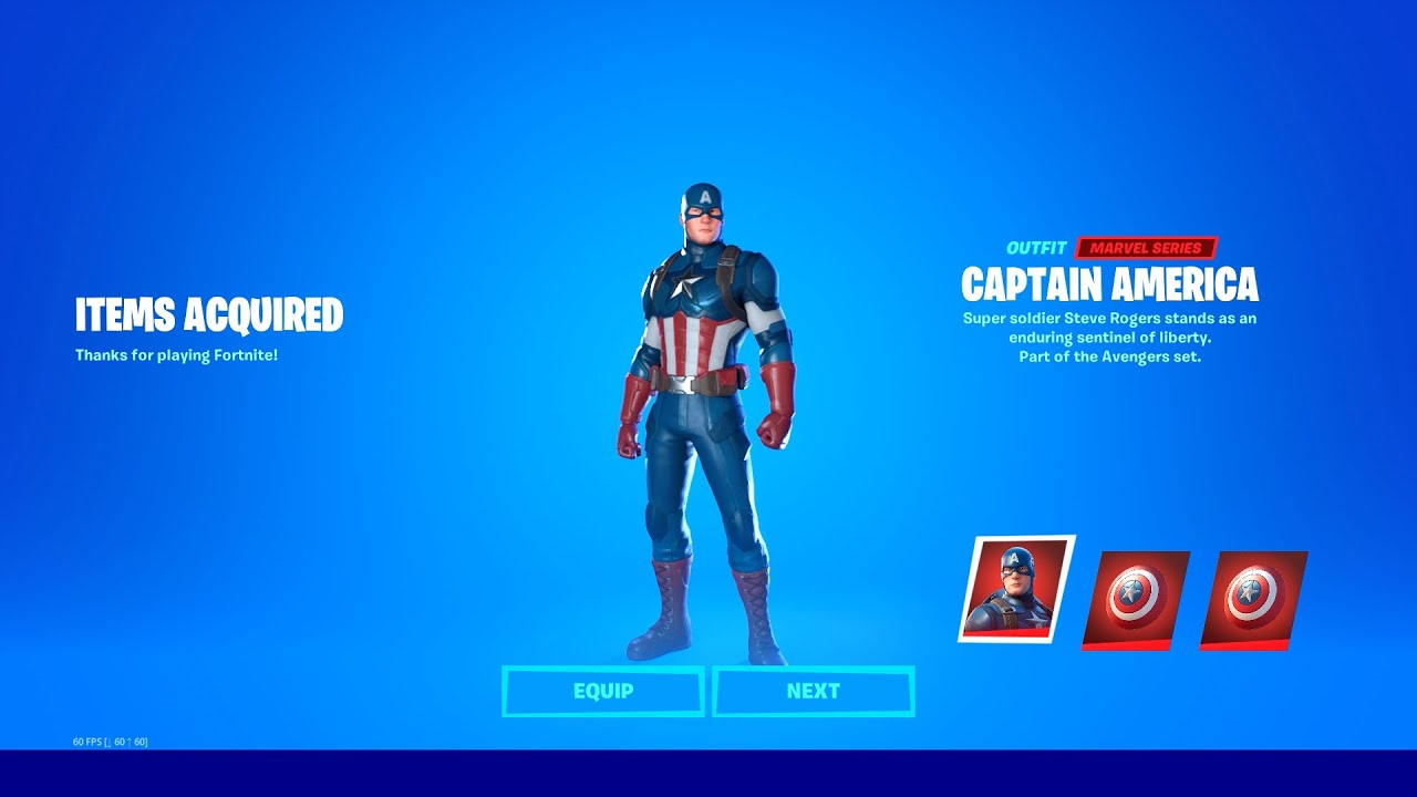 How to Get CAPTAIN AMERICA SKIN for Free in Fortnite!