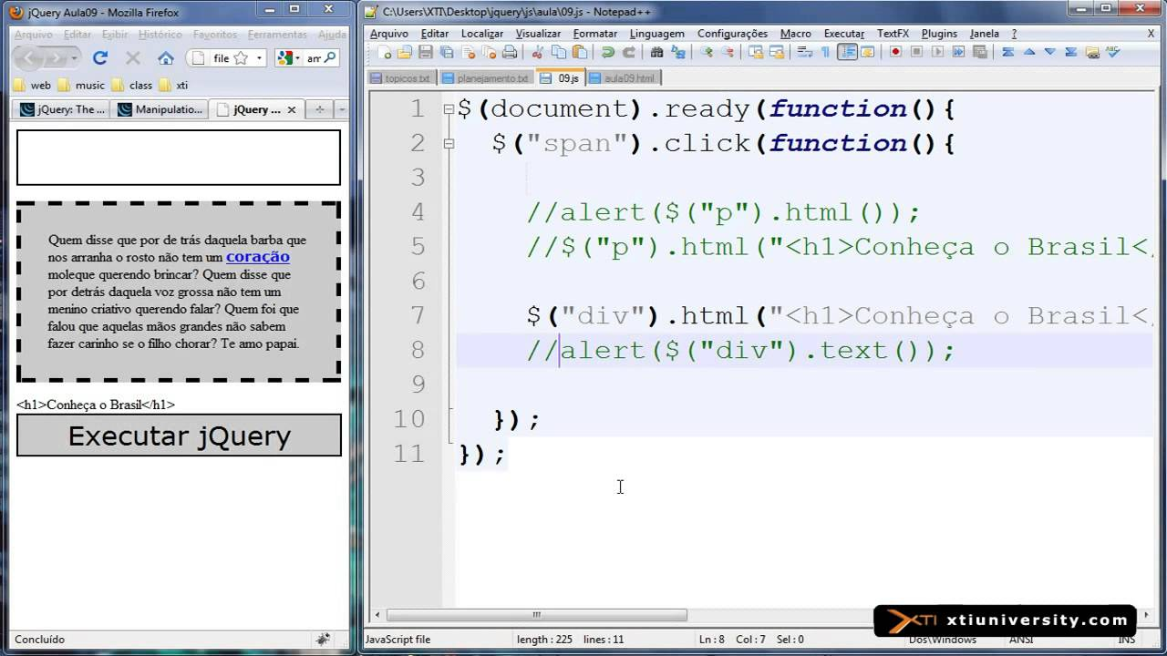 Download Universidade XTI   jQuery   11   Manipulao de Contedo