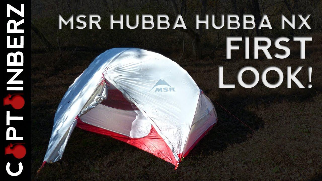 MSR Hubba Hubba NX 2 Person Tent First Look! & MSR Hubba Hubba NX 2 Person Tent: First Look! - YouTube