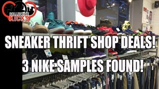 sneaker bargains at thrift shop nike samples found