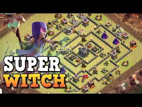Super Witch Attack - TH9 Attack Strategy 2017 ◆ 3 Star in Clan Wars ◆ Clash of Clans