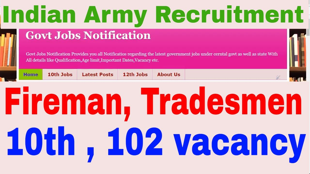 102 vacancy of fireman tradesmen indian army recruitment 2017 102 vacancy of fireman tradesmen indian army recruitment 2017 how to apply how to fill form falaconquin
