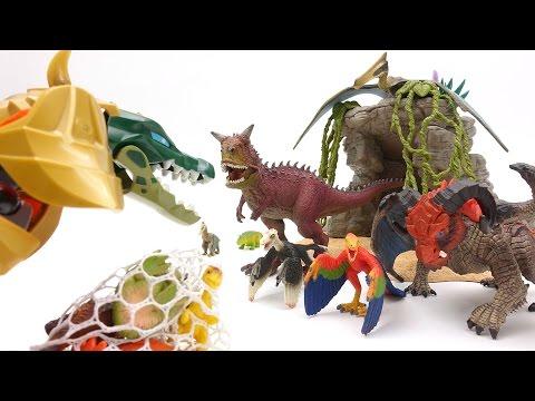 액체괴물 공룡사냥꾼이 아기공룡을 잡아갔어요!! Slime Monster(Dinosaur Hunter) Take Baby Dinosaur