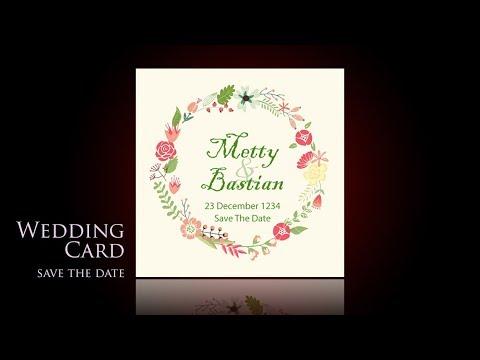 Kartu Ucapan Terimakasih Wedding Photoshop Cc Youtube