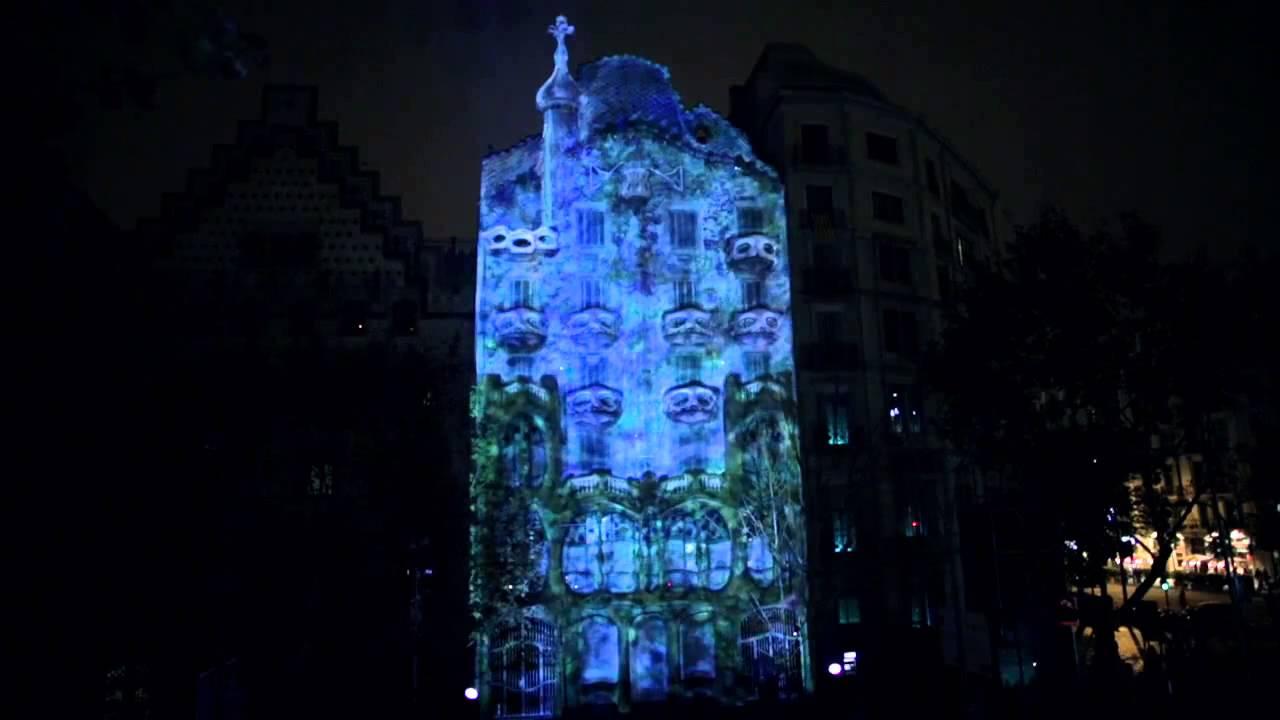 0bf916aa7b El despertar de la Casa Batlló (Gaudí). Mapping Barcelona - YouTube