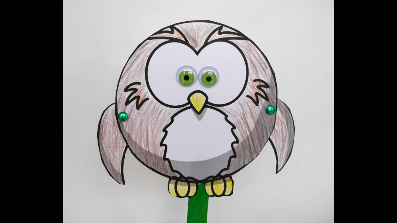 Flapping Owl Puppet Craft - YouTube