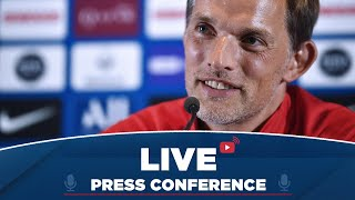 Conférence de presse de Thomas Tuchel et Thomas Meunier avant Paris Saint-Germain Stade de Reim