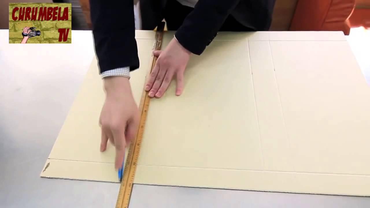 Tutorial: Cómo hacer cajas de carton a medida. - YouTube