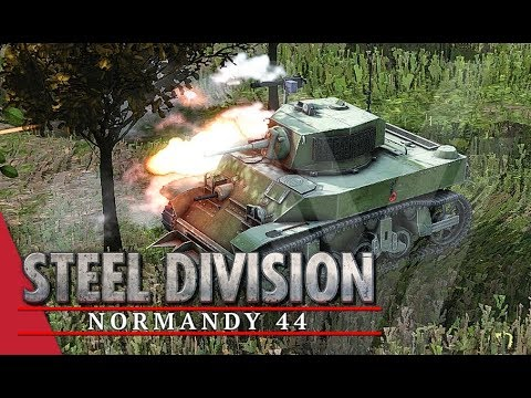 Riding The River! Steel Division: Normandy 44 Gameplay (Odon - River, 3v3)