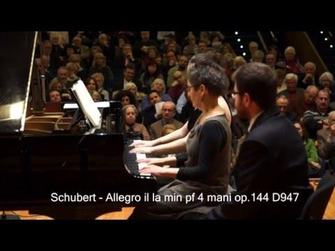 "Maria-João Pires and Lilit Grigoryan - Franz Schubert - Allegro in A Minor, D 947 ""Lebensstürme"""