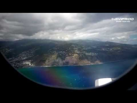 Vol complet Maurice/Réunion - Take off from Mauritius and landing in Reunion : complete flight