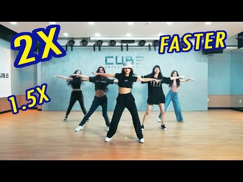 (G)I-DLE 1.5X VS 2X FASTER - HANN (Alone) Dance Practice [FANMADE]