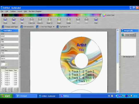 Instructions On How To Print Labels On Any Cd Label Paper  Youtube