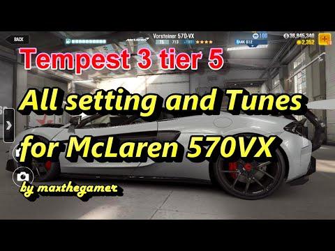 CSR2 McLaren 570VX Tempest 3 tier 5 setup, tune and