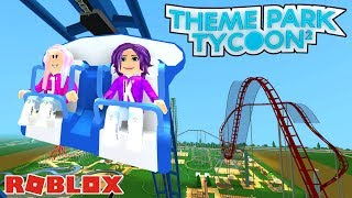 BUILDING ROLLER COASTERS! 🎢 / Roblox: Themenpark Tycoon 2