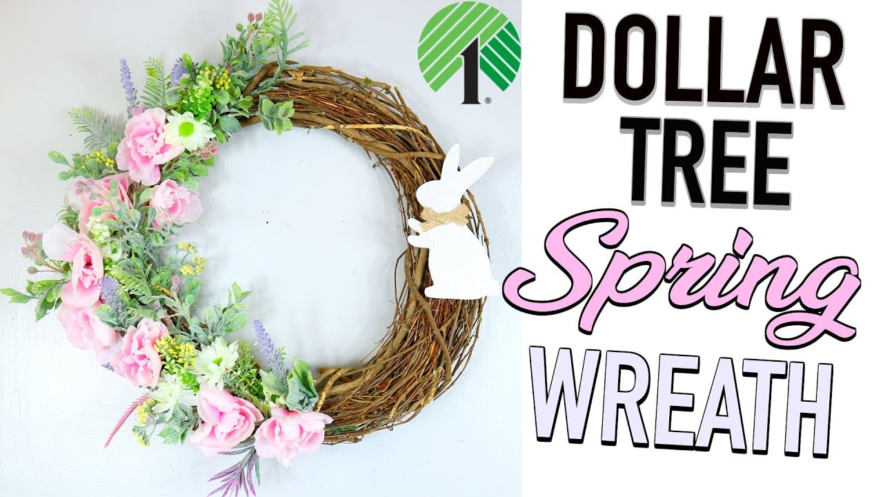Dollar Tree Diy Gorgeous 1 Spring Door Wreath Sensational Finds