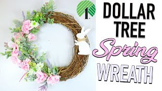 DOLLAR TREE DIY | GORGEOUS $1 SPRING DOOR WREATH |  Sensational Finds