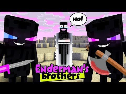 MONSTER SCHOOL : ENDERMAN'S BROTHERS MAKE TROUBLE IN MONSTER SCHOOL - SAD STORY