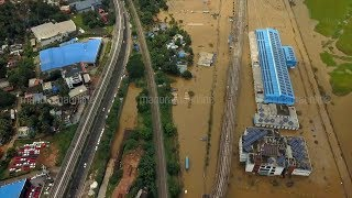 Aerial View of Flooded Aluva by Rinoy Sebastian