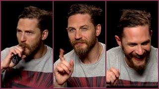 TOM HARDY is smoking (hot) gangster (LEGEND) and trying to remember his co-star