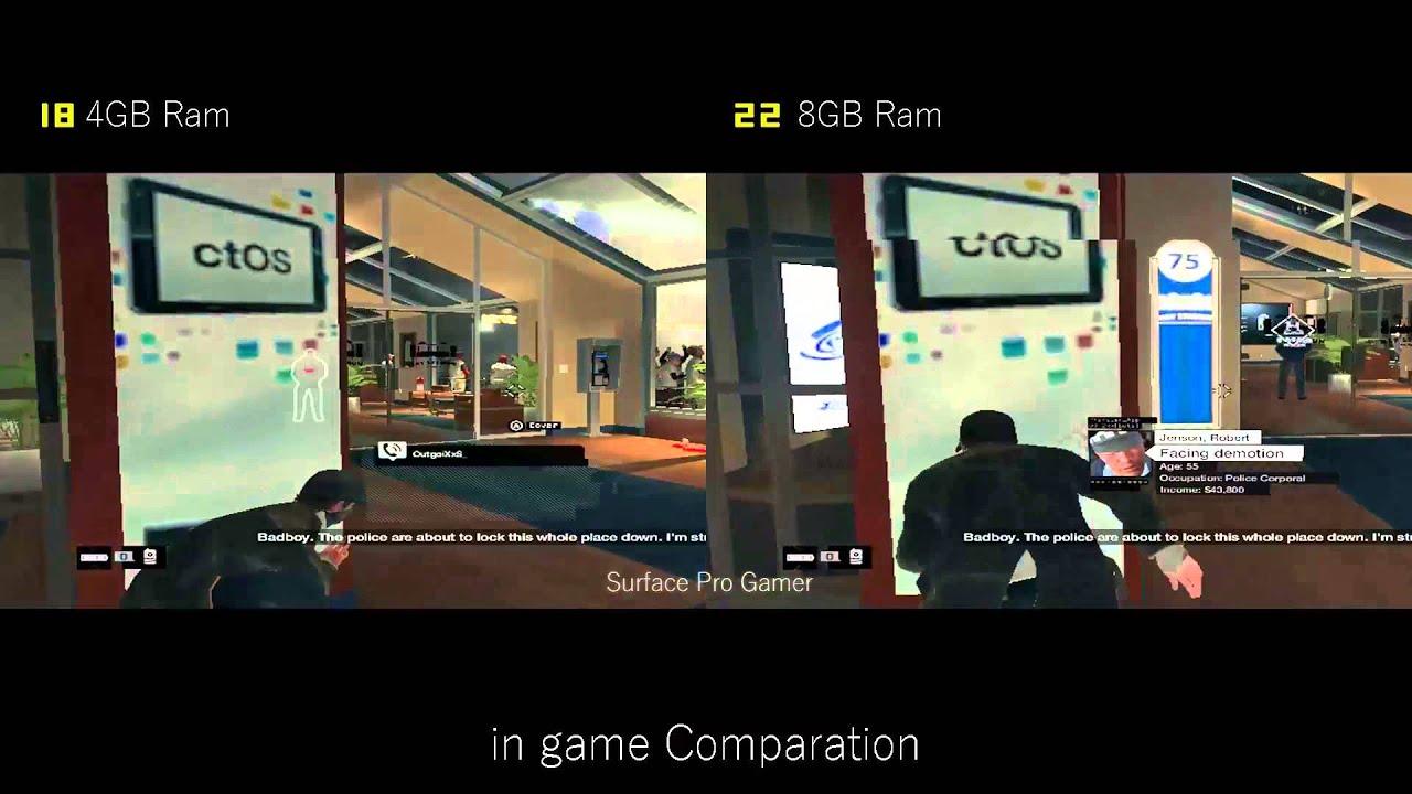 Ram Battle 4Gb Vs 8gb on Gaming, with Intel Hd 5000 on intel Nuc