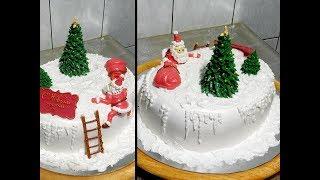 УКРАШЕНИЕ НОВОГОДНЕГО ТОРТА от SWEET BEAUTY  СЛАДКАЯ КРАСОТА,  cake decoration