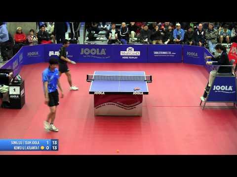 2012 JOOLA/NATT Teams Final Match 3 - Song Liu Vs Kewei Li