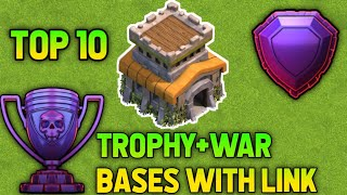 Top 10 Th8 Legend Pushing base Anti 2 star With LINKS!! War +Trool+Hybrid bases Latest 2020 CoC