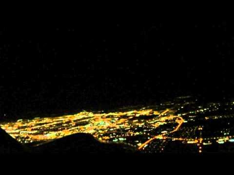 Night Flight Around Lubbock Texas with Distant Storms