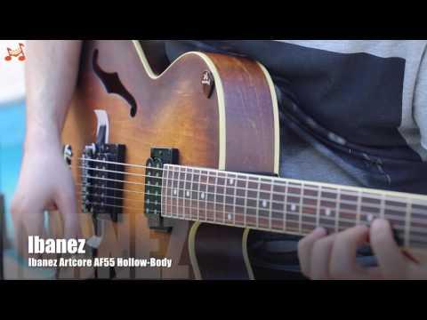 Ibanez Artcore AF55 - Tobacco Flat