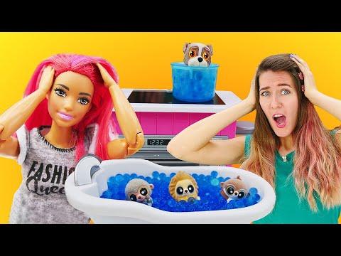 ¡teresa-convierte-su-casa-en-un-zoo!-muñecas-barbie-en-español.-vídeos-para-niñas
