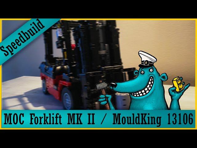 Mould King Forklift 13106: Der Käpt'n baut auf Speed = Speed-Build!