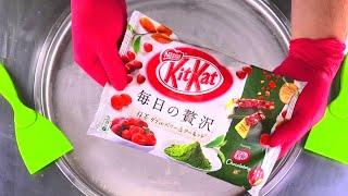 KitKat Matcha Ice Cream Rolls | how to make fried Chocolate & Berry Ice Cream | Satisfying ASMR Food