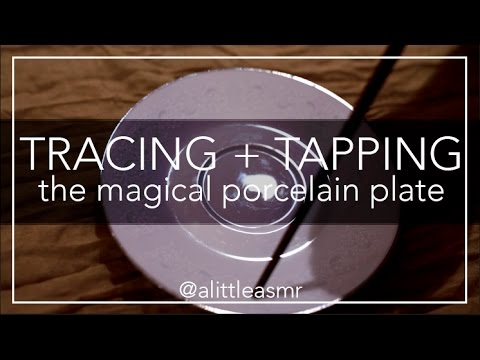 ◇ ASMR ◇ tracing + tapping on the porcelain plate *no talking*