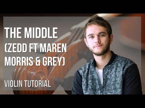 How to play The Middle by Zedd ft Maren Morris & Grey on Violin (Tutorial)
