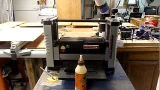Switch from general machinery 16 auto planer to to 12 1/2 Craftsman thickness planer review.MP4