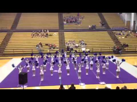 Adair county middle school cheerleaders at Cupid Classic 2-14-15