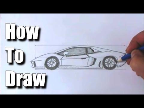 How to Draw a Sports Car Lamborghini