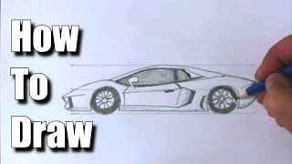 How to Draw a Sports Car Lamborghini