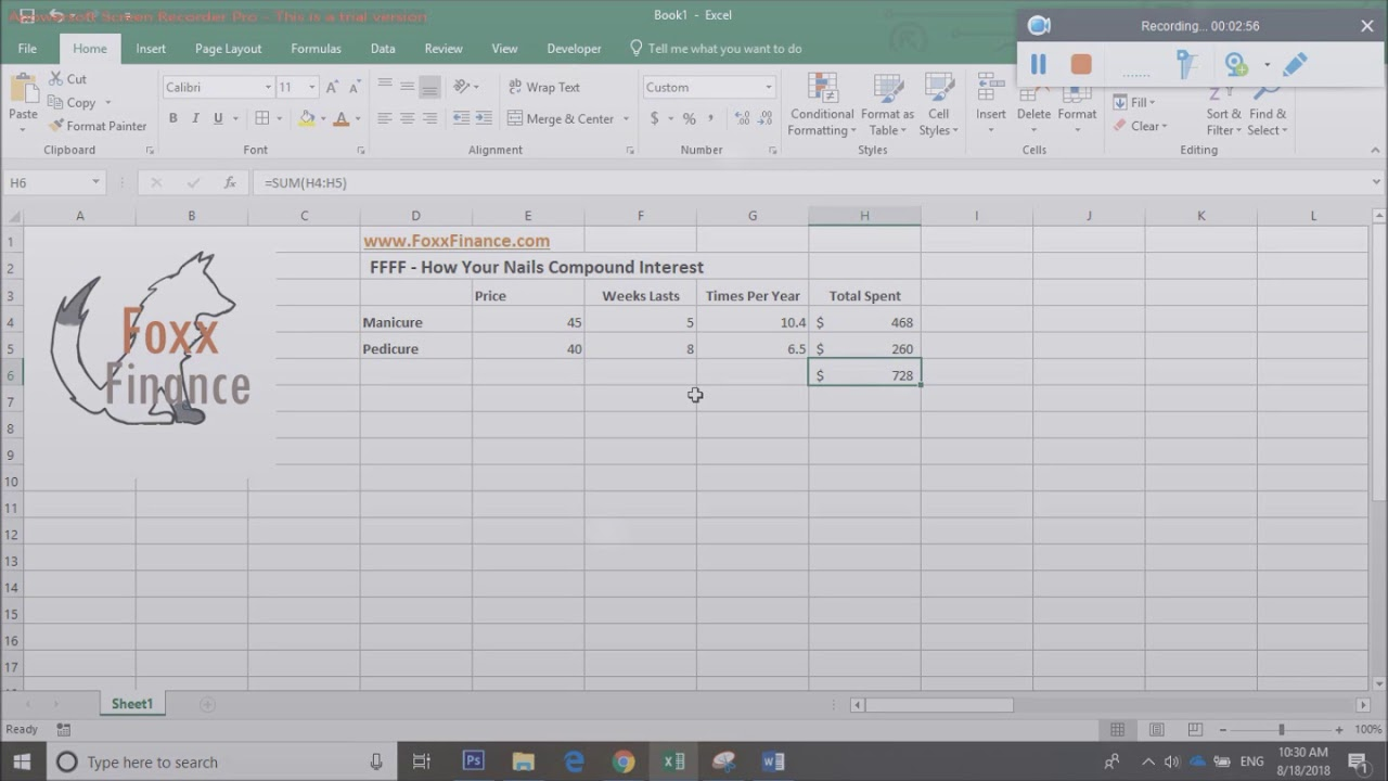 how your nails compound interest excel finance tutorial youtube