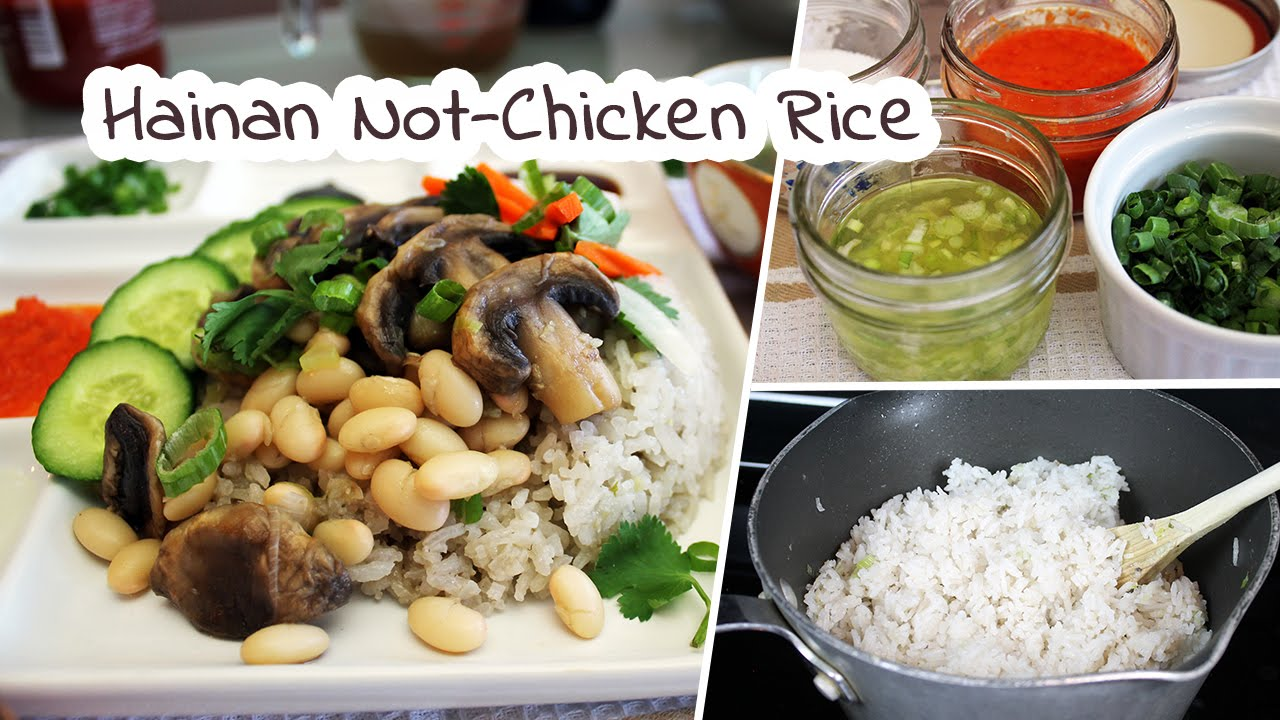 Vegan Hainanese Rice Recipe   Mary's Test Kitchen